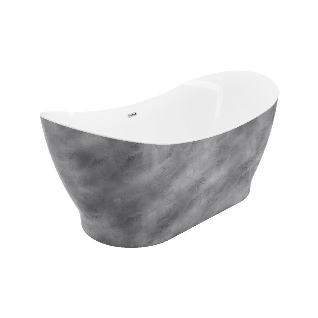 A E Bath Shower Freestanding Bathtub Silver