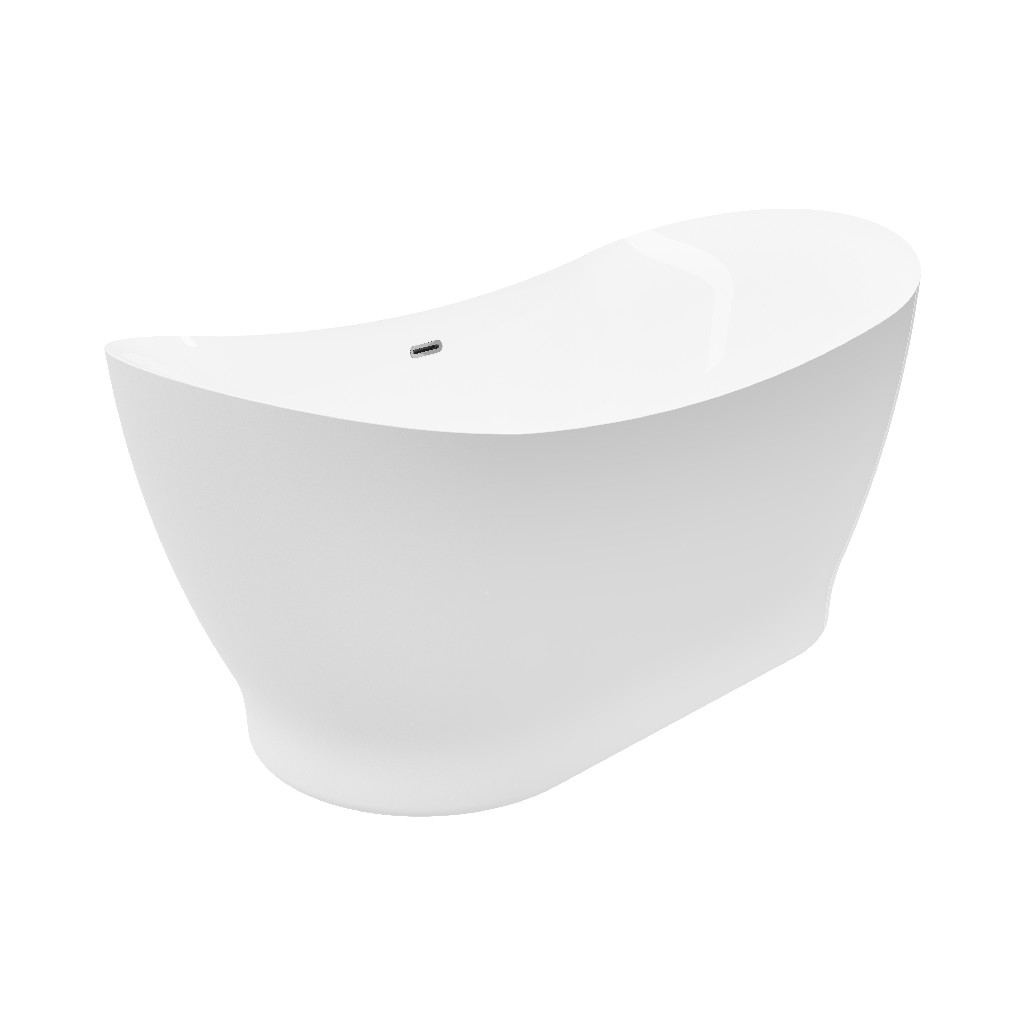 White Freestanding Bathtub Faucet