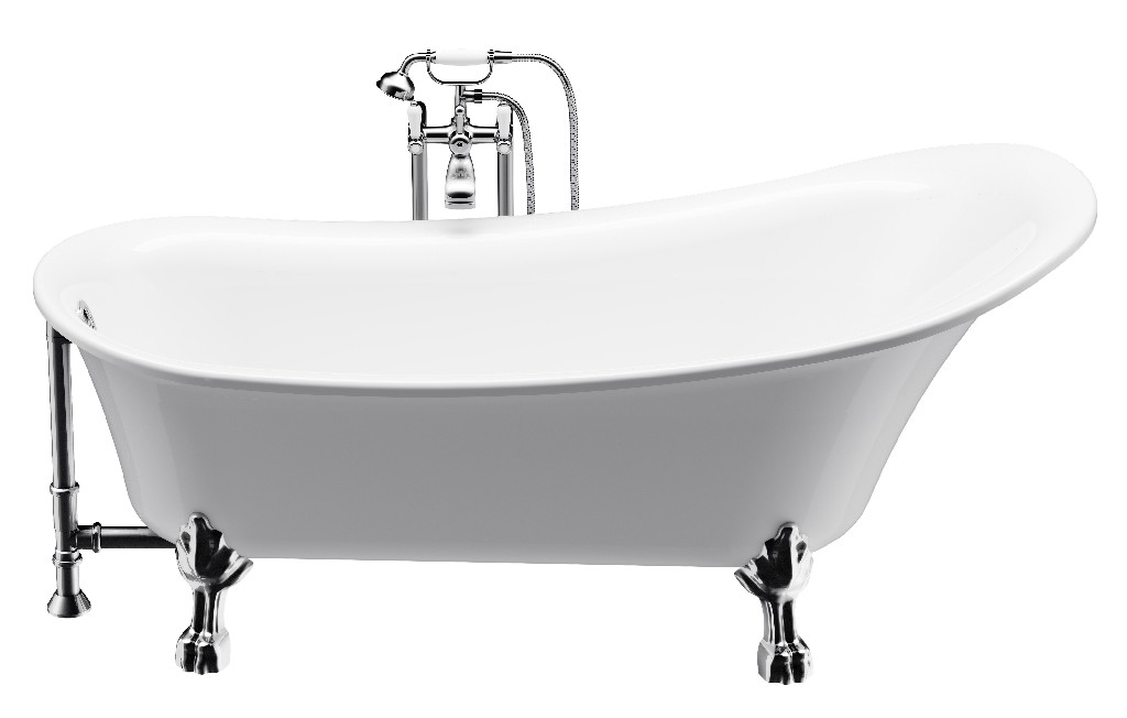 """Dorya Clawfoot tub 69"""" with faucet - A&E Bath and Shower BT-830"""