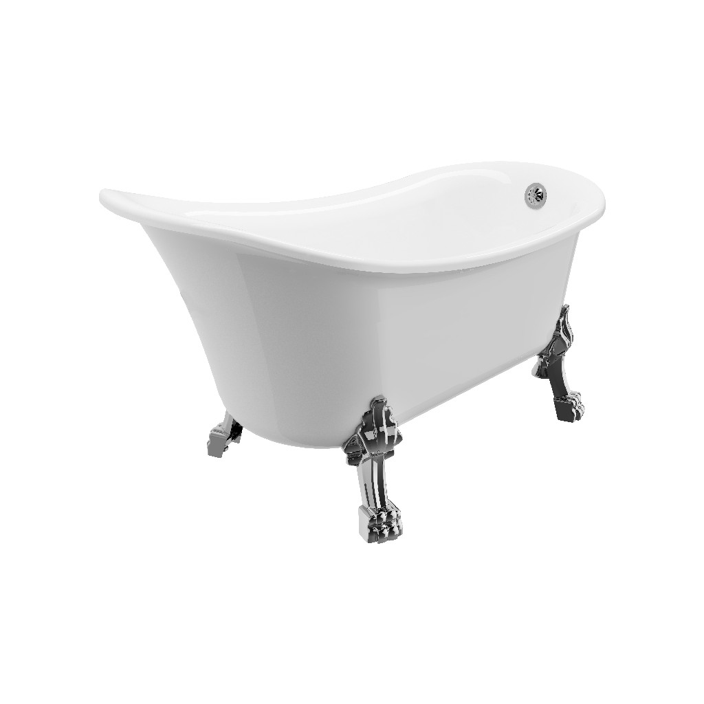 """Dora Clawfoot tub 59"""" with faucet - A&E Bath and Shower BT-830-59"""