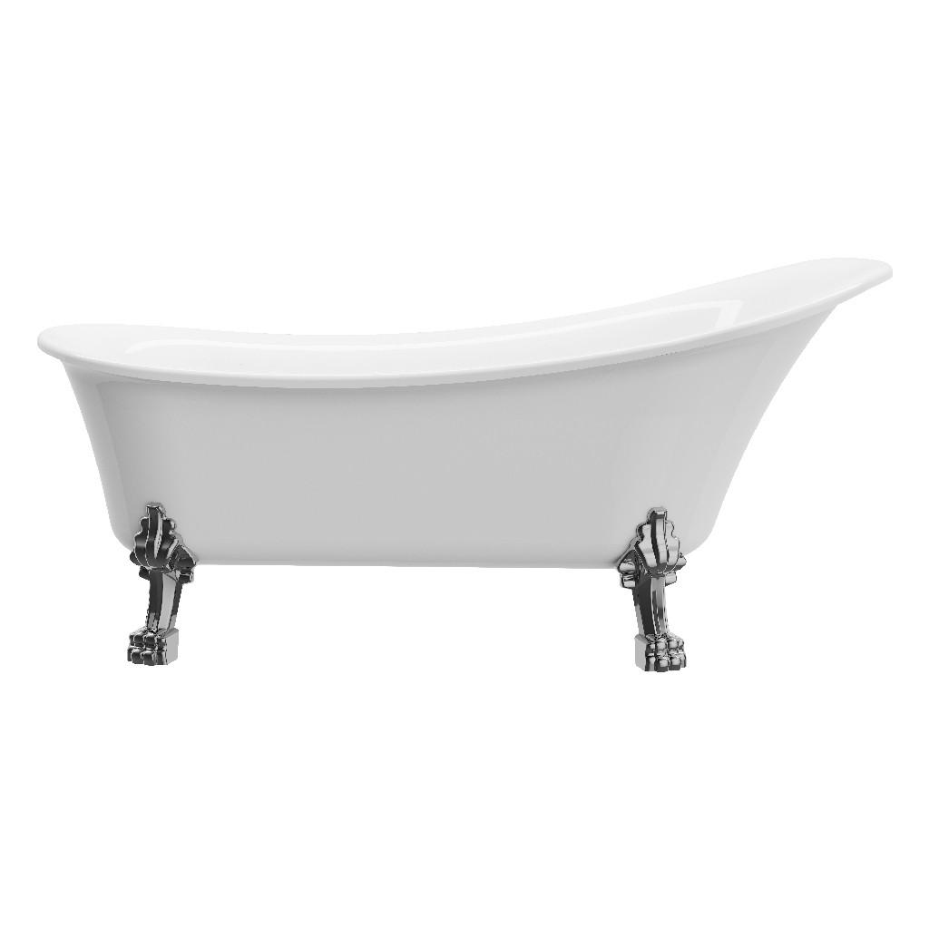 """Dorya 69"""" Calwfoot tub No Faucet No Overflow - A&E Bath and Shower BT-830-SKR"""