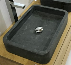 Heidi Over the Counter Vessel Stone Basin Sink - A&E Bath and Shower CCB-1811