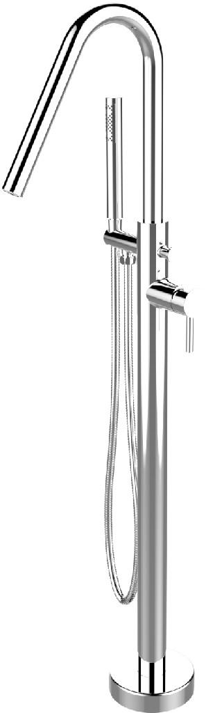 Florence Freestanding Faucet Angle SpoutWith Polished Chrome Finish - A&E Bath and Shower FSTF-01-A-CR