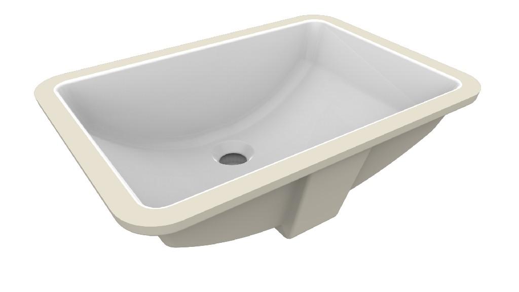 Fusion Undermount Ceramic Basin Sink, Glossy White - A&E Bath and Shower UCB-017