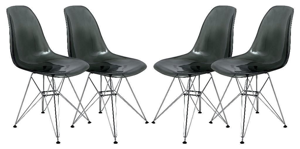 Cresco Molded Eiffel Side Chair (Set of 4) - LeisureMod CR19TBL4