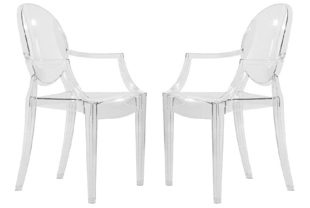 Carroll Modern Acrylic Chair (Set of 2) - LeisureMod GC22CL2
