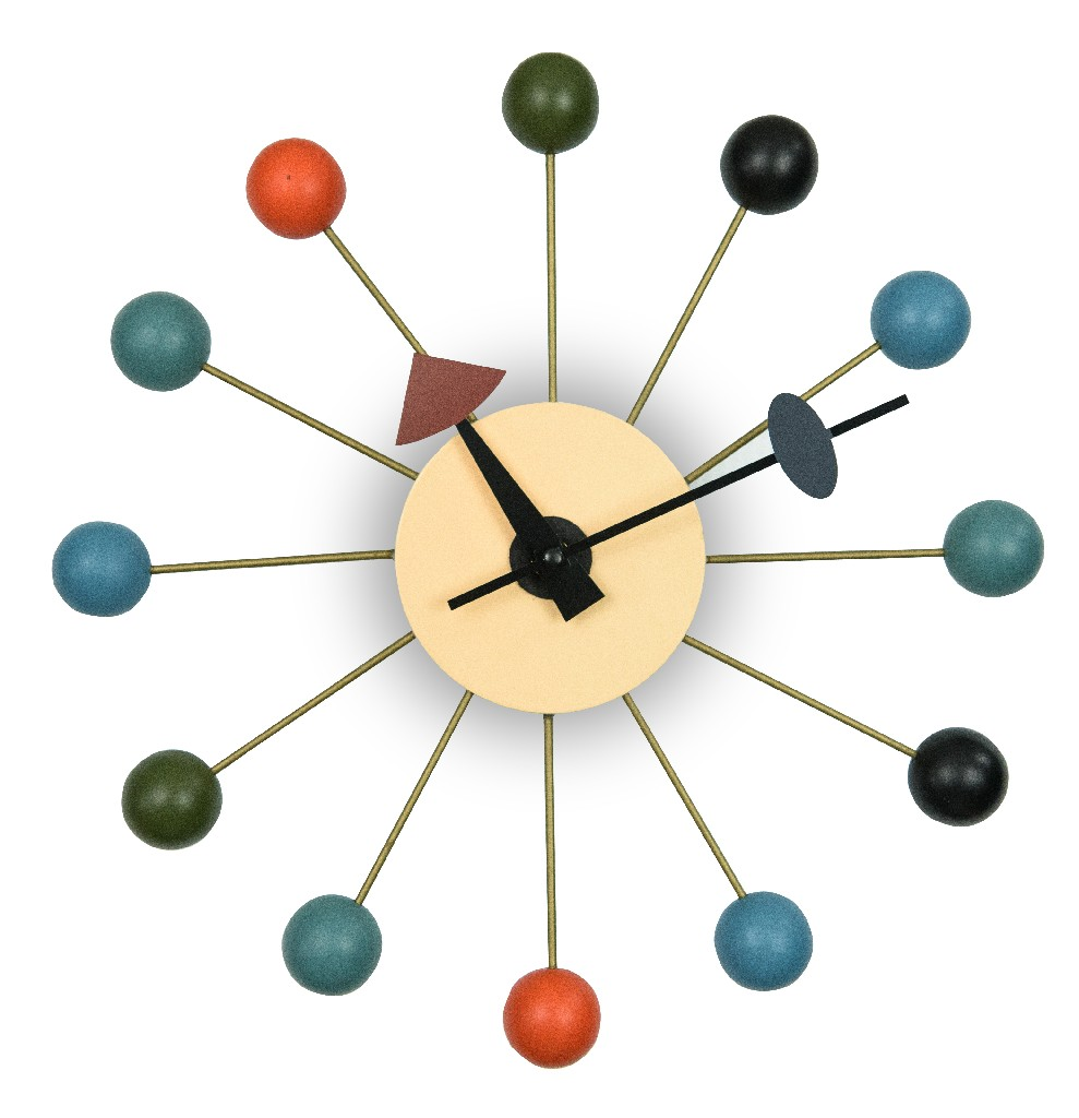 Concordia Modern Design Round Colorful Balls Silent Non-Ticking Wall Clock - LeisureMod VCL13M