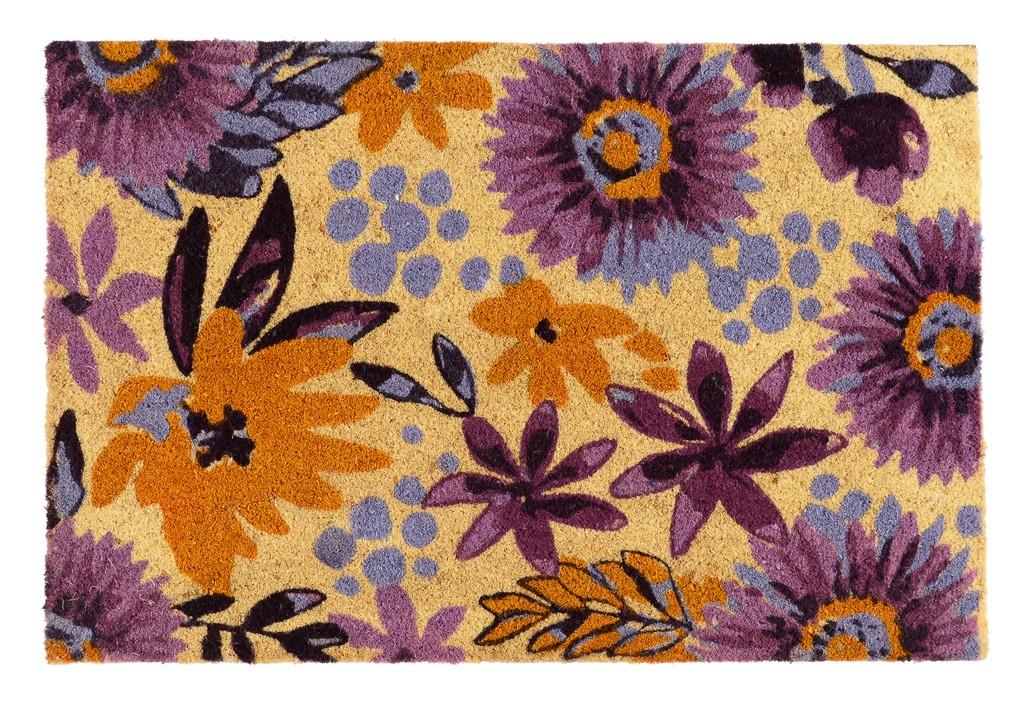 Blossom 24x36 Coir Doormat - Kosas Home 3013216