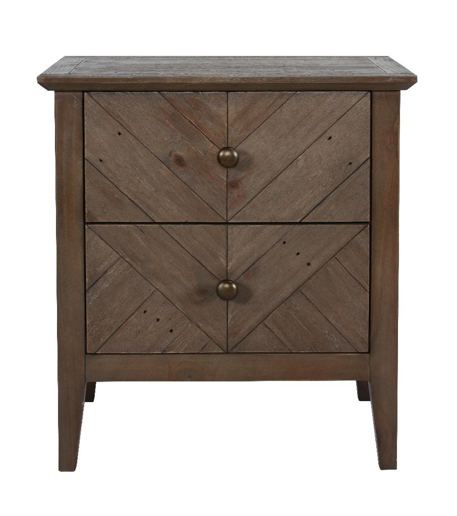 Bowen Reclaimed Pine 2 Drawer Nightstand - Kosas Home 54003098