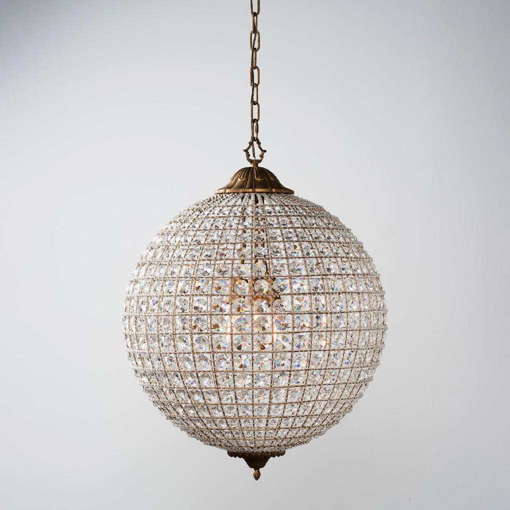 Allesandria 3-Light Crystal Chandelier Large - Kosas Home 56003498