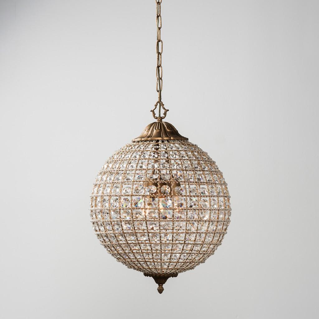 Allesandria 3-Light Crystal Chandelier Medium - Kosas Home 56003499