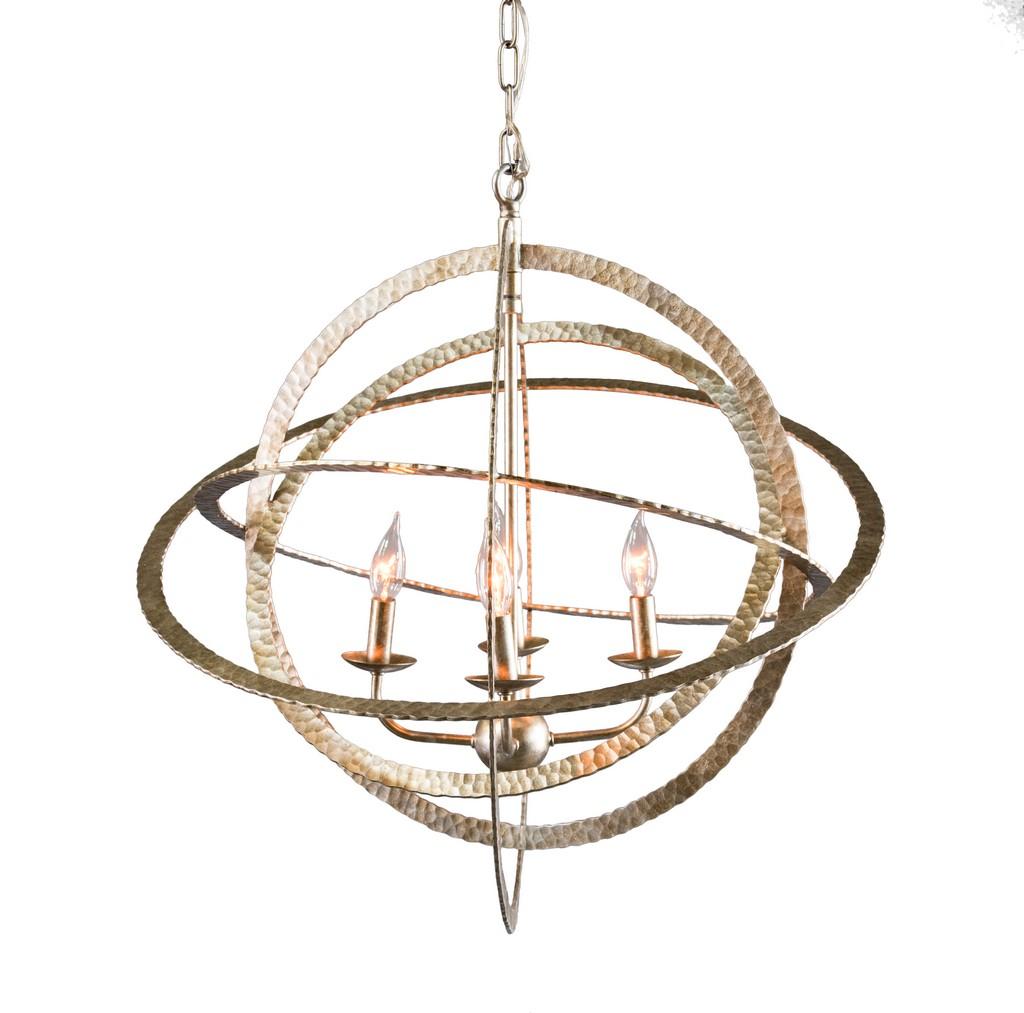 Celeste 4-Light Wrought Iron Chandelier - Kosas Home 56004155