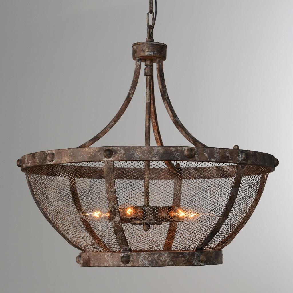 Charleston 6-Light Mesh Chandelier - Kosas Home 56005131