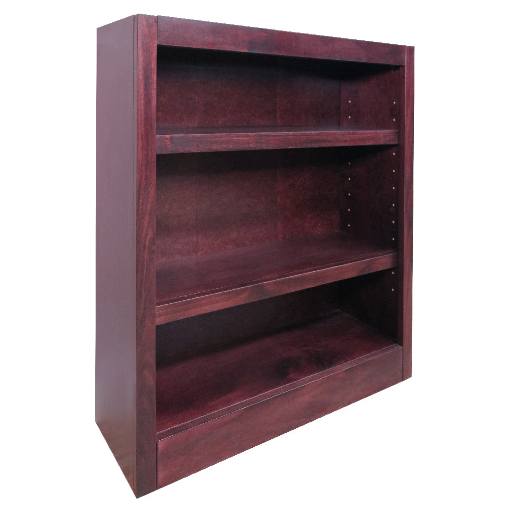 3 Shelf Wood Bookcase, 36 inch Tall, Cherry Finish - Concepts in Wood MI3036-C