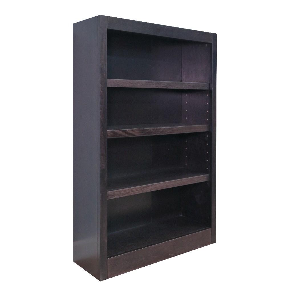 4 Shelf Wood Bookcase, 48 inch Tall, Espresso Finish - Concepts in Wood MI3048-E