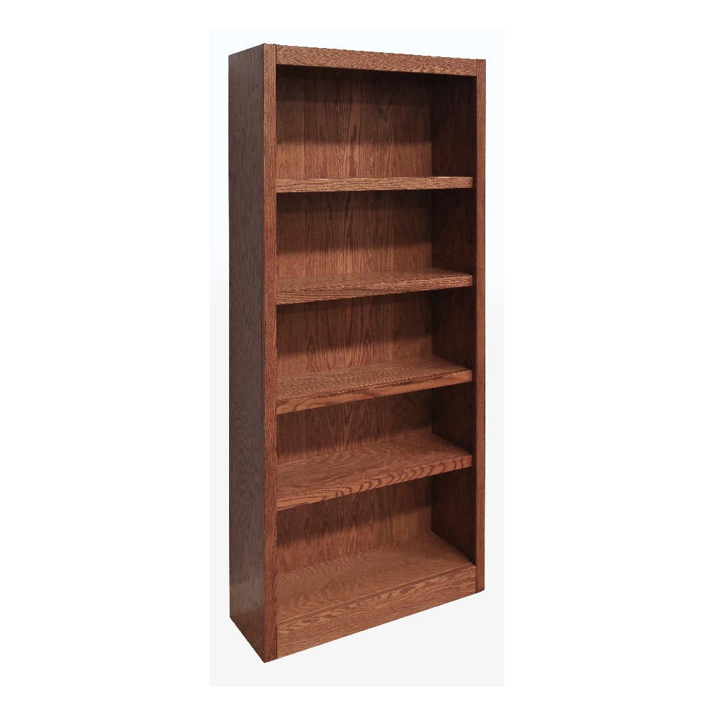 5 Shelf Wood Bookcase, 72 inch Tall, Espresso Finish - Concepts in Wood MI3072-C