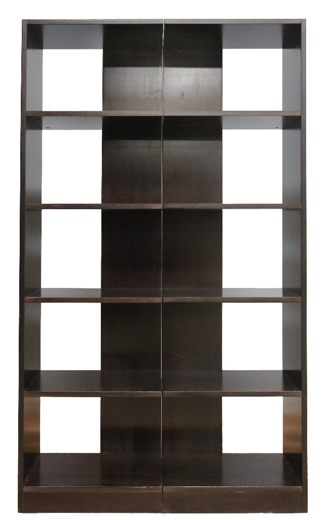5 Shelf Wood Bookcase Towers, Set of Two, Reversible, Espresso Finish - Concepts in Wood RB2072-E