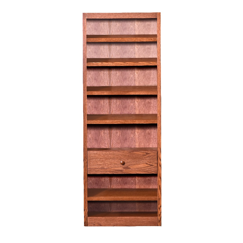 20 Pair Wood Shoe Rack with 7 Shelves and Storage Drawer, Oak Finish - Concepts in Wood SR3084-D