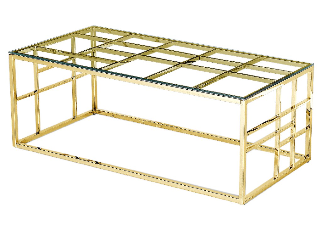 Rectangular | Furniture | Coffee | Clear | Plate | Glass | Table | Best | Gold