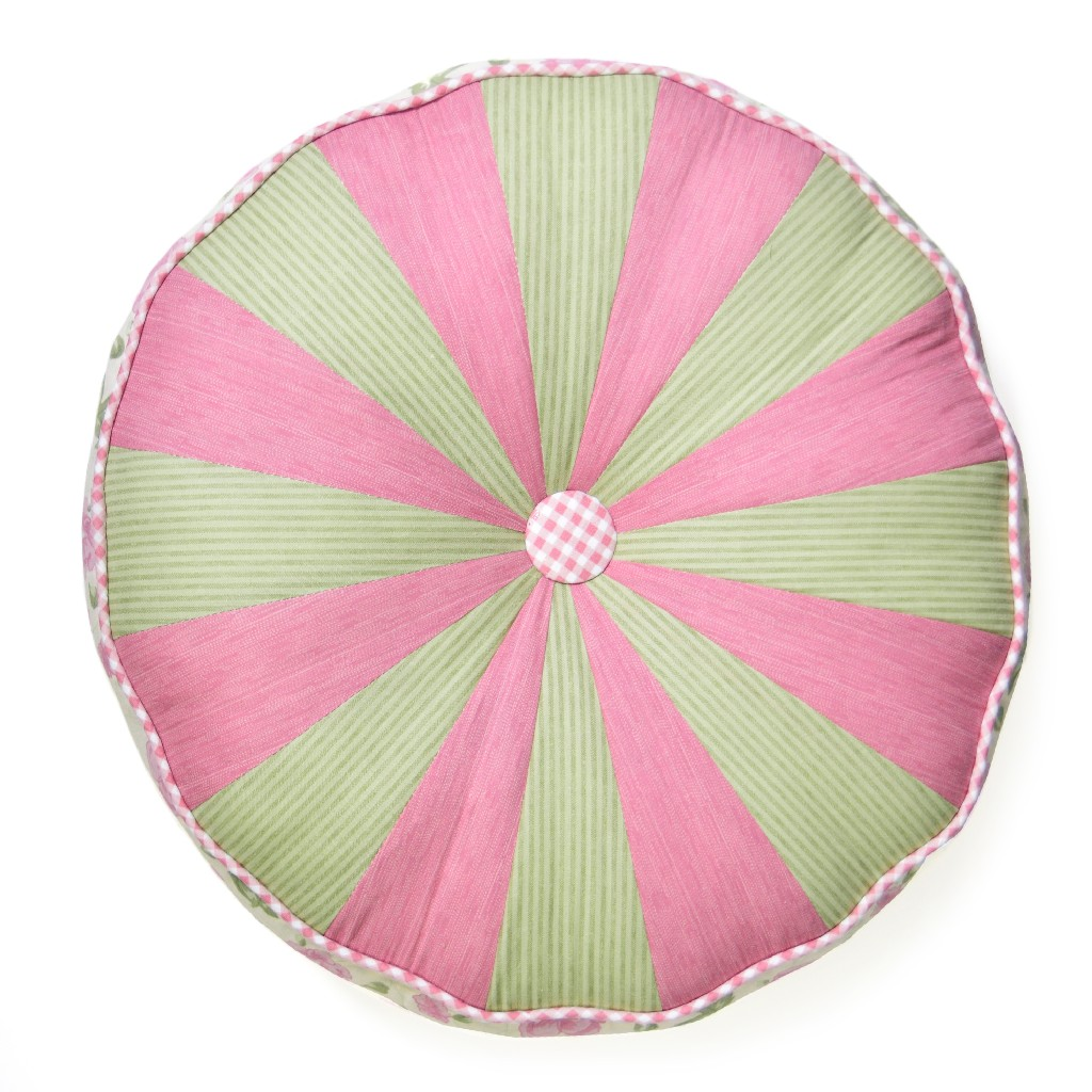 Donna Sharp Bashful Rose Round Decorative Pillow - American Heritage Textiles 51916