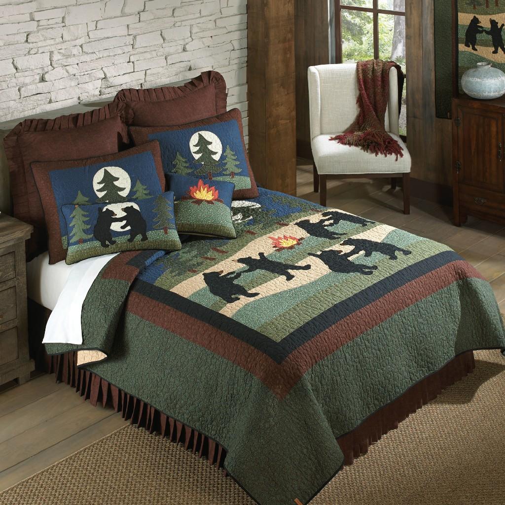 Donna Sharp Bear Dance Twin Cotton Quilt - American Heritage Textiles 60324
