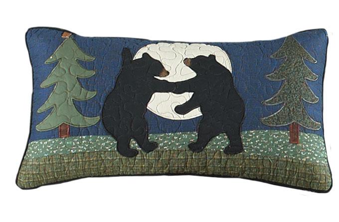 Donna Sharp Bear Dance Rectangle Decorative Pillow - American Heritage Textiles 60367