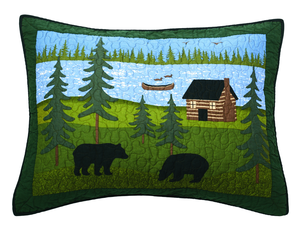 Donna Sharp Bear River Standard Sham - American Heritage Textiles 83422