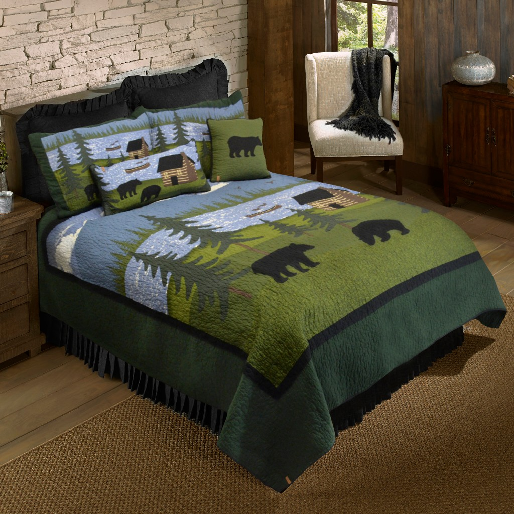 Donna Sharp Bear River King Cotton Quilt - American Heritage Textiles 83427