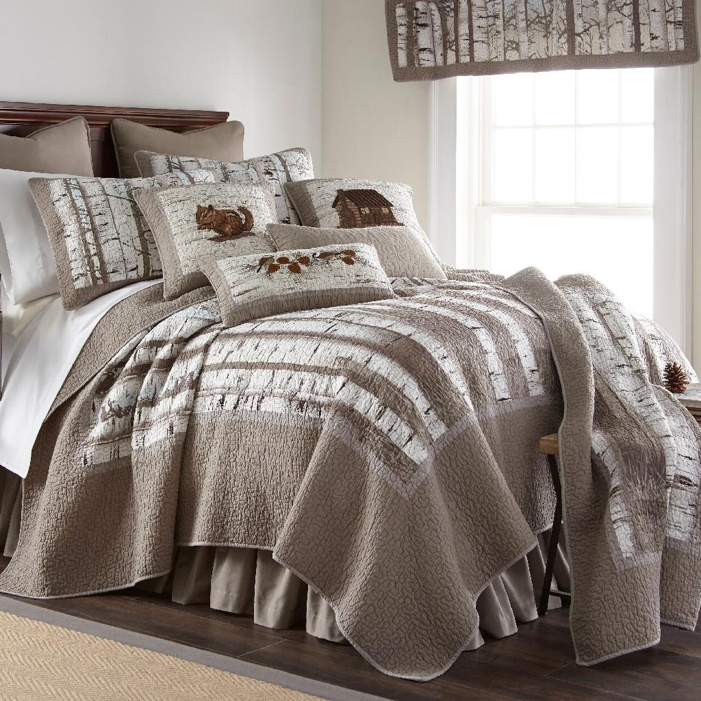 Donna Sharp Birch Forest Full/Queen Cotton Quilt - American Heritage Textiles 86106