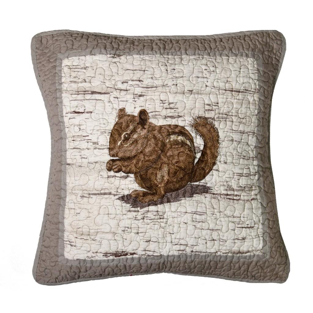 Donna Sharp Birch Forest Chipmunk Decorative Pillow - American Heritage Textiles 86115