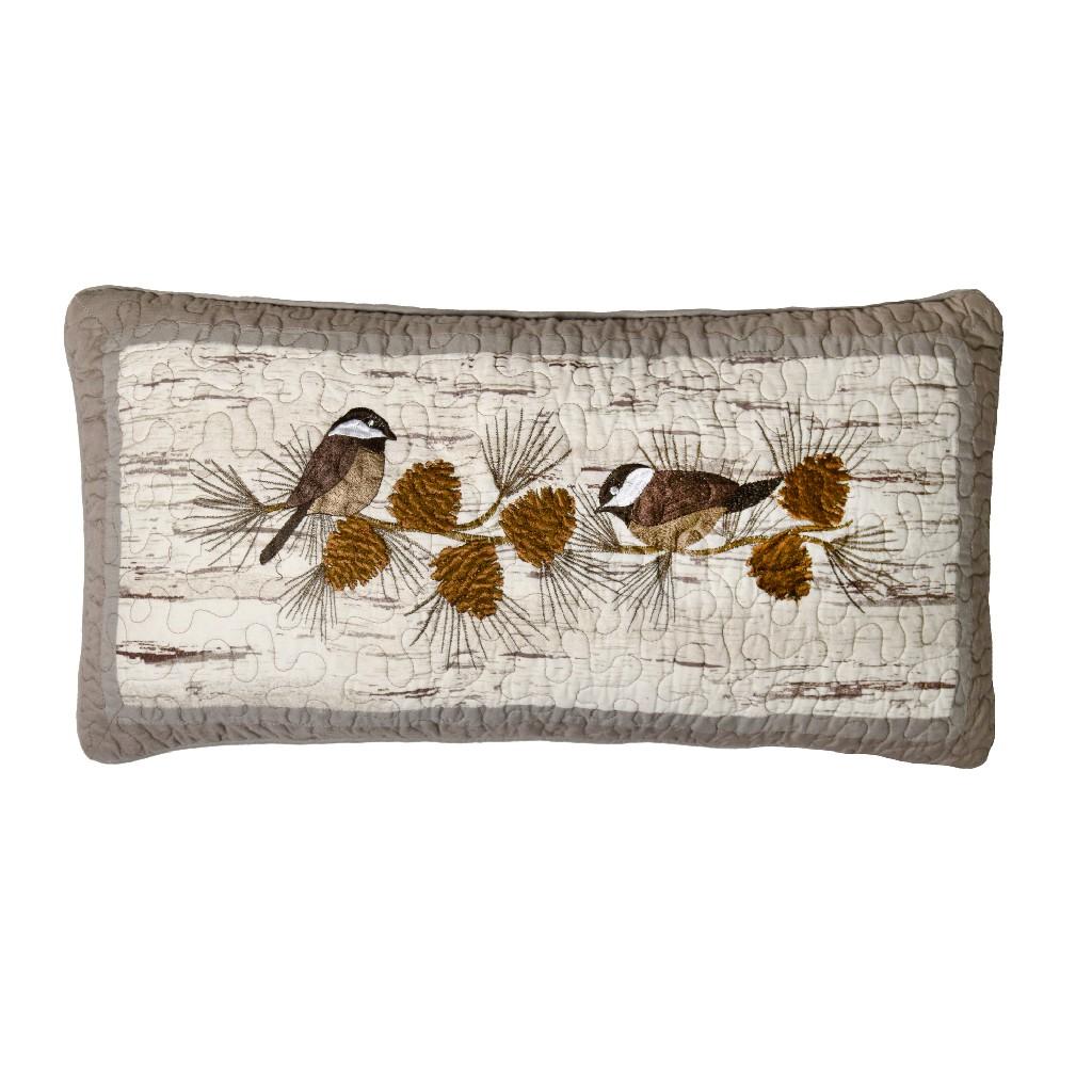 Donna Sharp Birch Forest Chickadee Decorative Pillow - American Heritage Textiles 86116