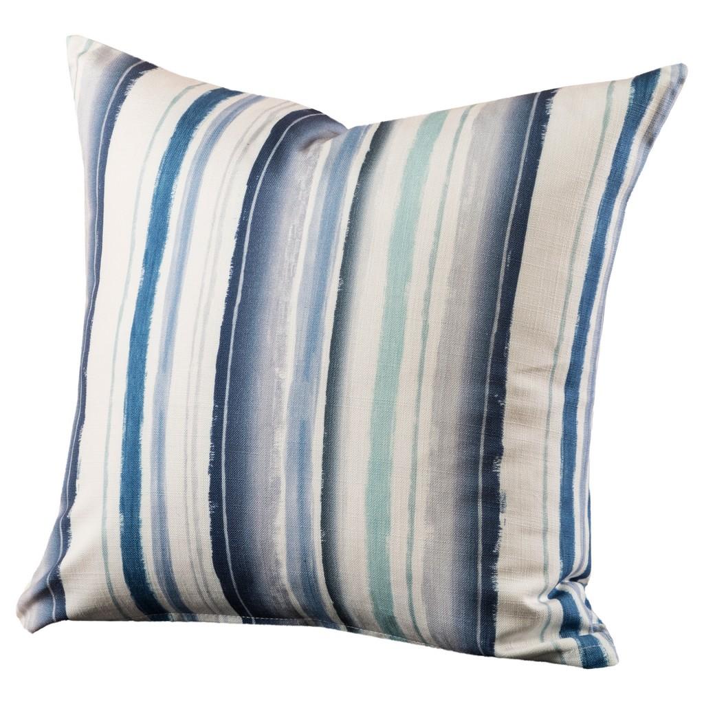 "Bayview Stripe 16"" Designer Throw Pillow - Siscovers BAYV-P17"
