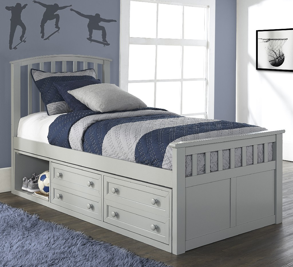 Hillsdale Furniture Twin Captain Bed Storage Unit Photo