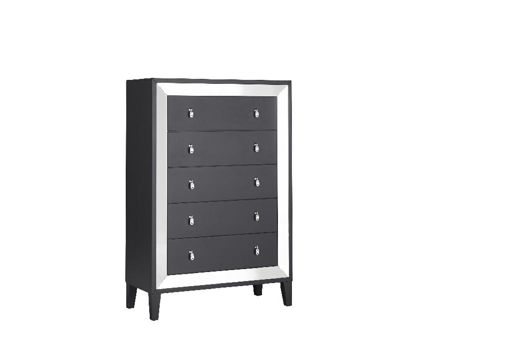 Chest Black in Black - Global Furniture USA CATANIA-BLACK-CH
