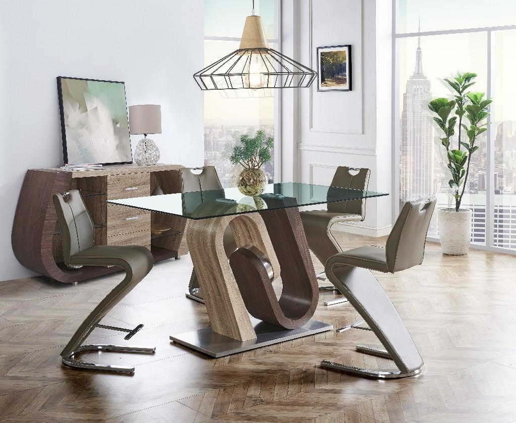 Bar Table in Oak & Walnut - Global Furniture USA D4126BT