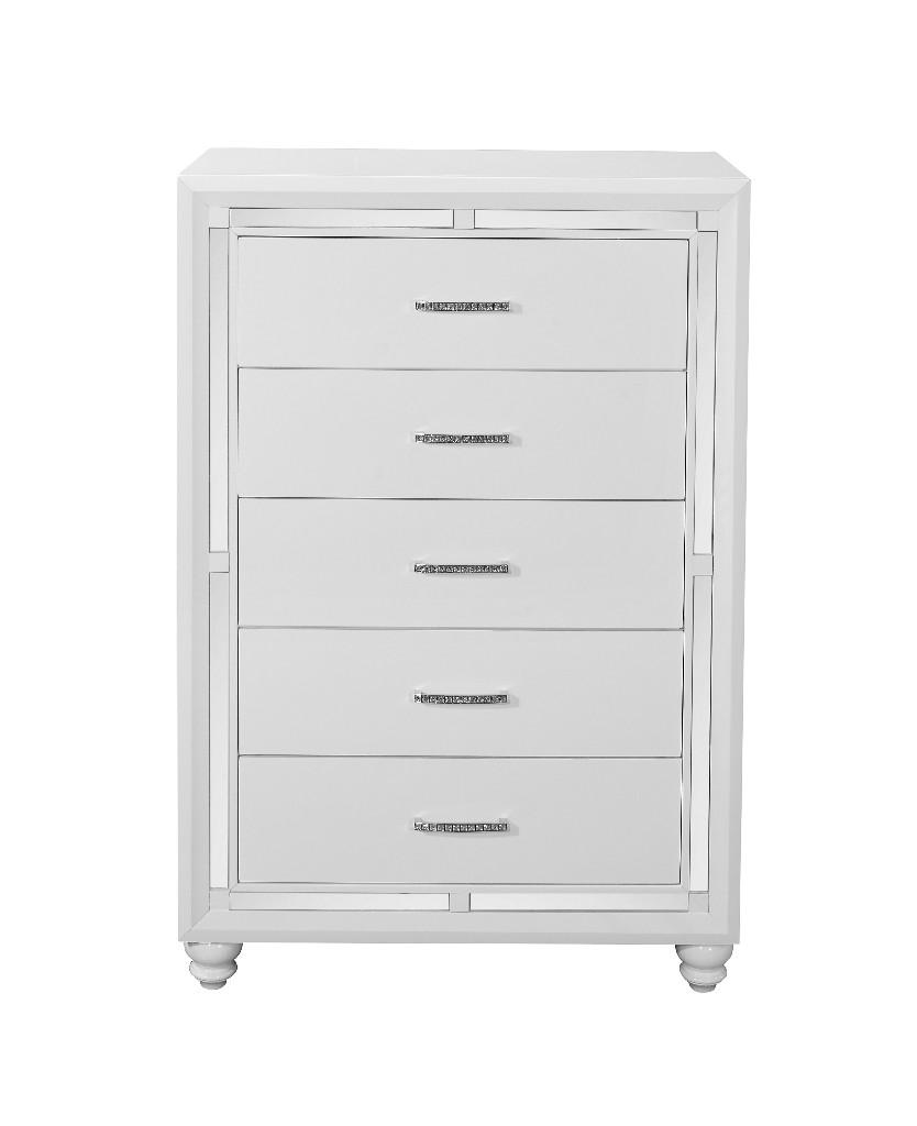 Chest in White - Global Furniture USA MACKENZIE - PEARLIZED WHITE - CH