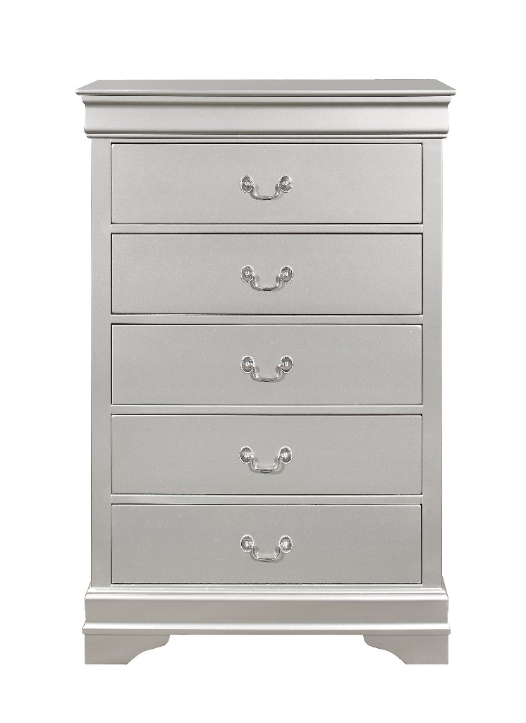 Chest in Silver - Global Furniture USA MARLEY - SILVER - CH