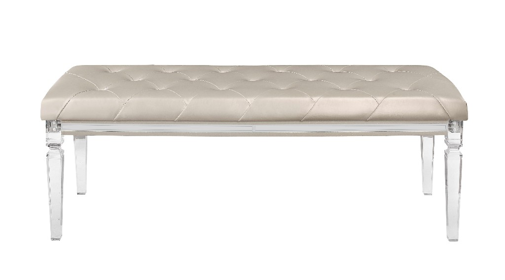 Bench Champagne in Champagne - Global Furniture USA PARIS-CHAMPAGNE-BN