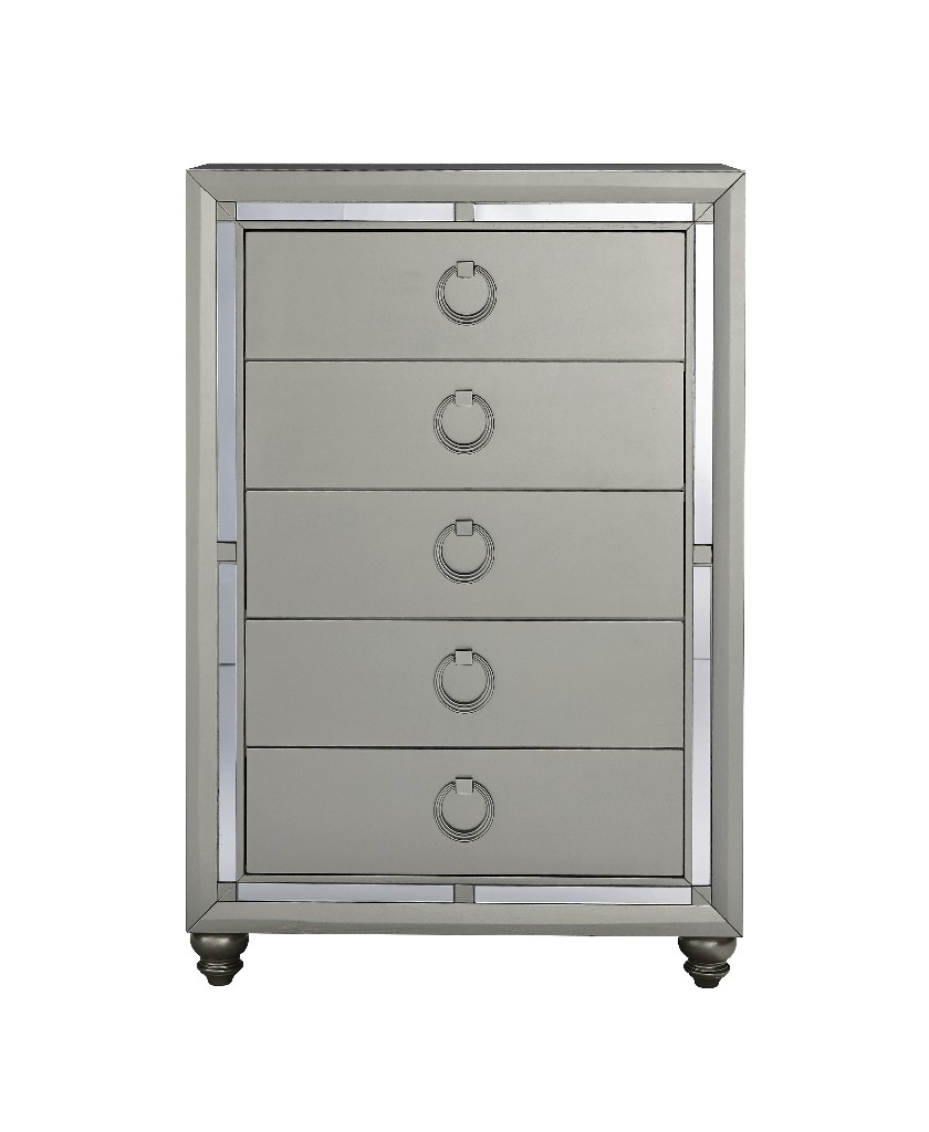 Chest in Silver - Global Furniture USA RILEY (1621)-SILVER-CHEST