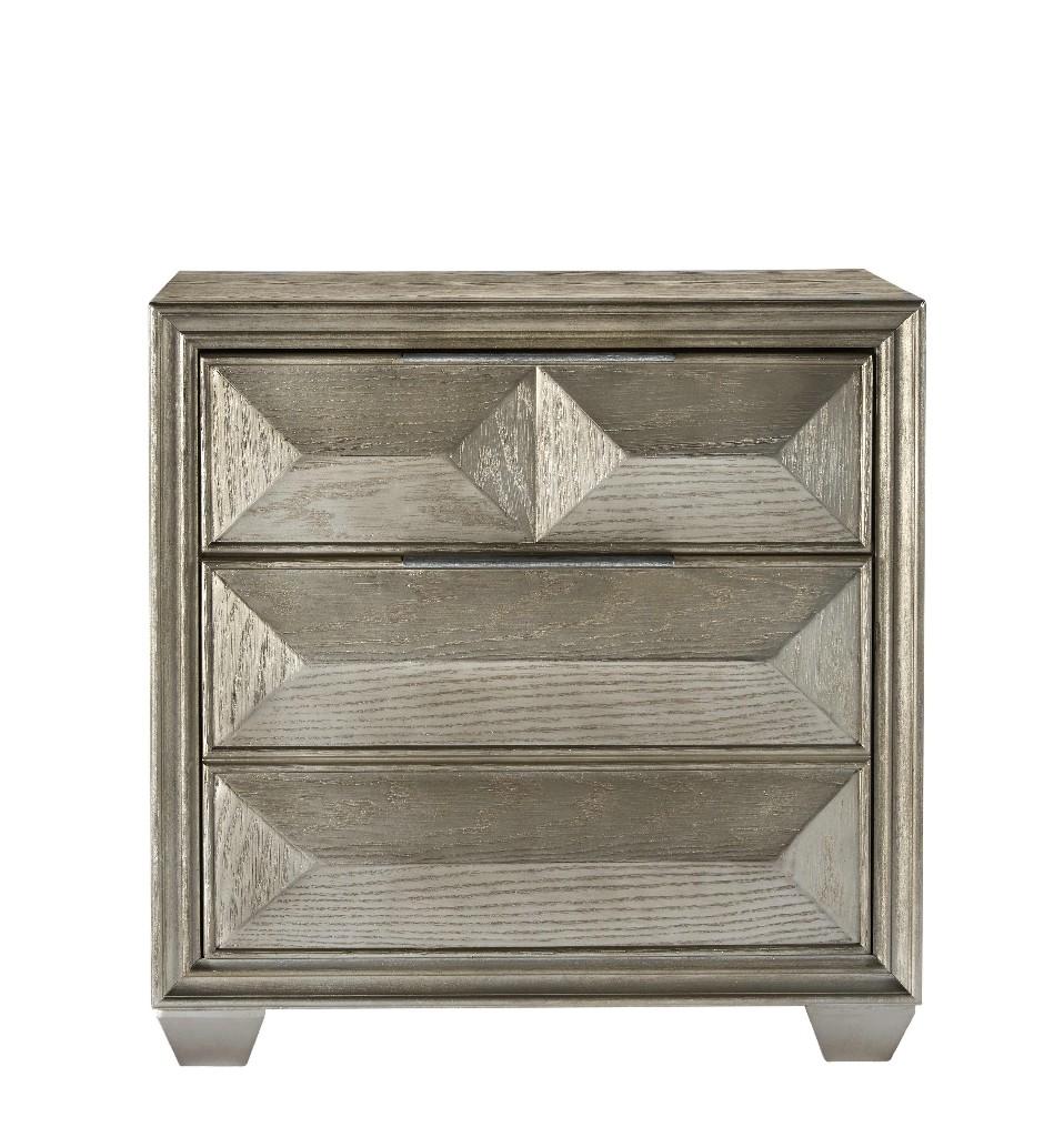 Nightstand   Furniture   Silver   Wood   USA