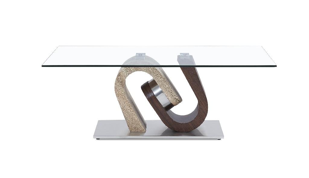 Coffee Table in Walnut & Oak - Global Furniture USA T4126CT