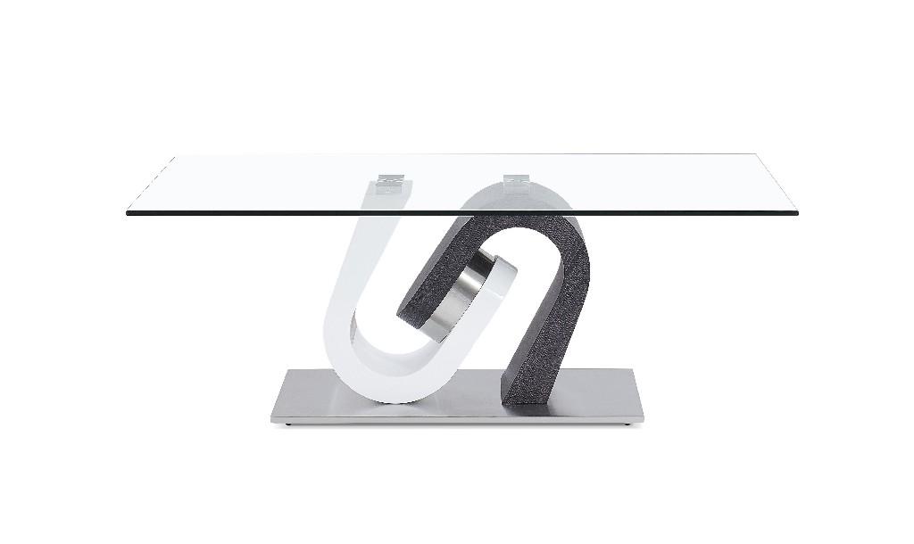 Coffee Table in Dark Grey & White - Global Furniture USA T4127CN
