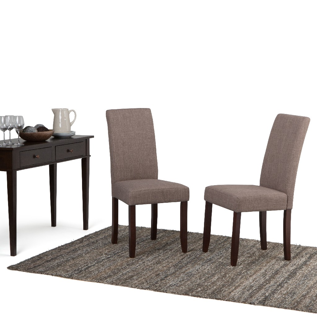 Acadian Parson Dining Chair in Light Mocha (Set of 2) - Simpli Home WS5113-4-LML