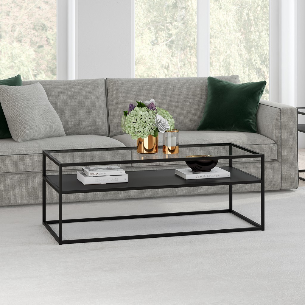 Ada Blackened Bronze Coffee Table - Hudson & Canal CT0356