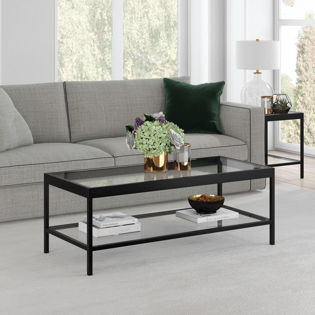 Alexis Blackened Bronze Coffee Table - Hudson & Canal CT0378