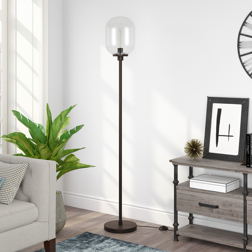 Agnolo Blackened Bronze Floor Lamp - Hudson & Canal FL0187