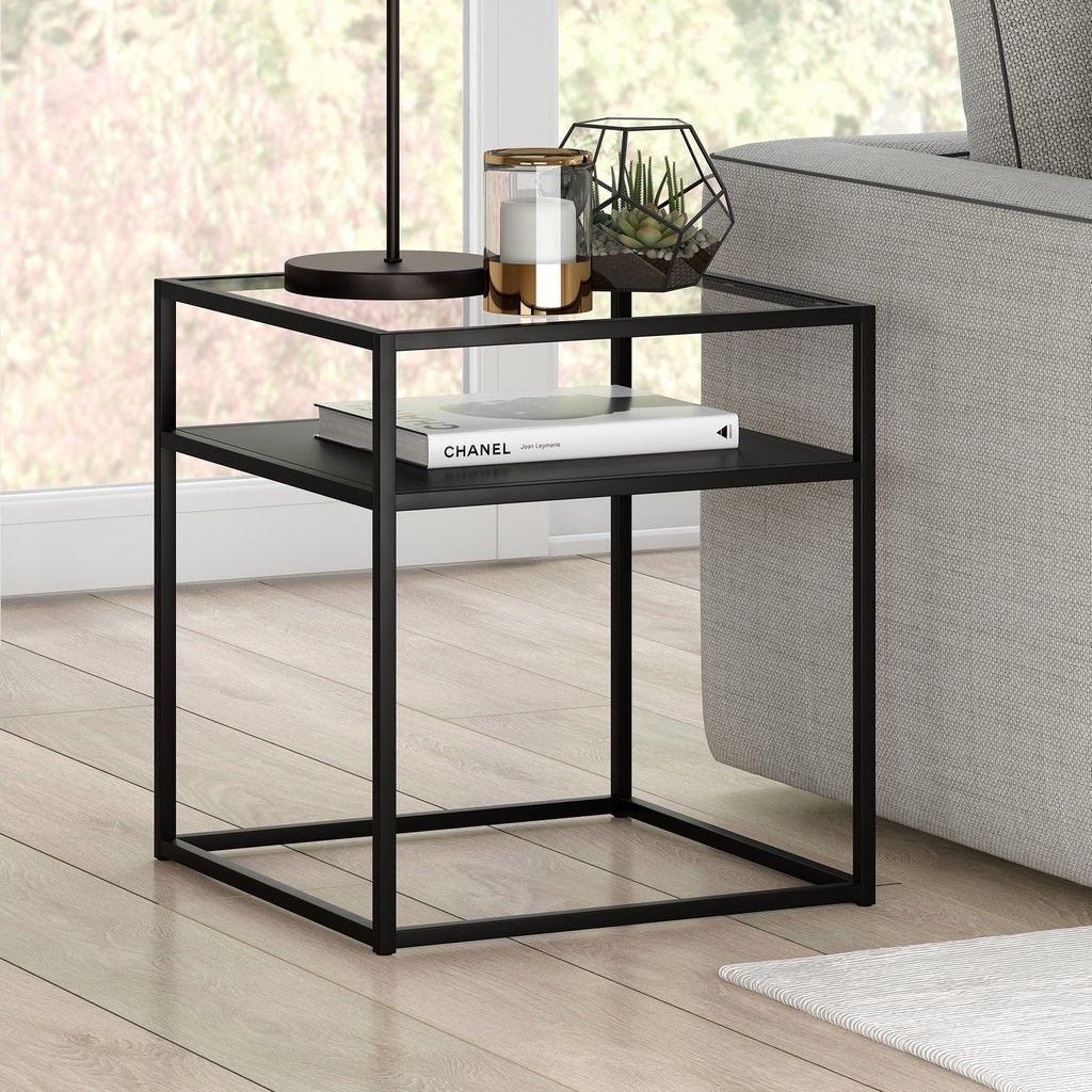 Ada Blackened Bronze Side Table - Hudson & Canal ST0357