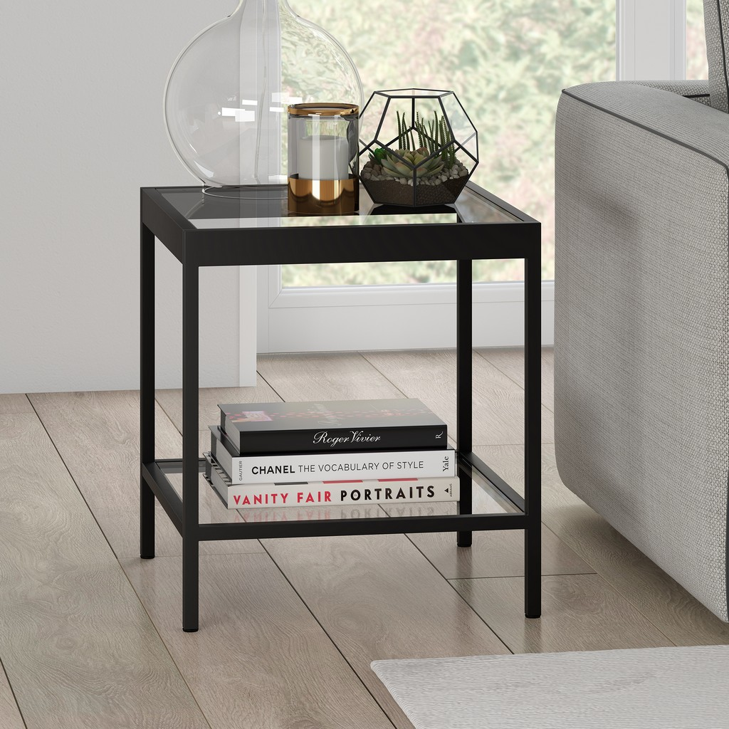 Alexis Blackened Bronze Side Table - Hudson & Canal ST0379