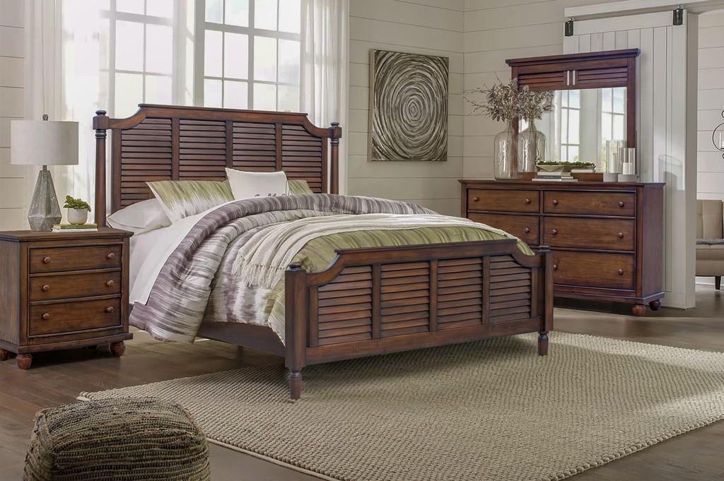Nightstand   Bedroom   Trading   Sunset   Drawer   Queen   Piece   Wood   Set