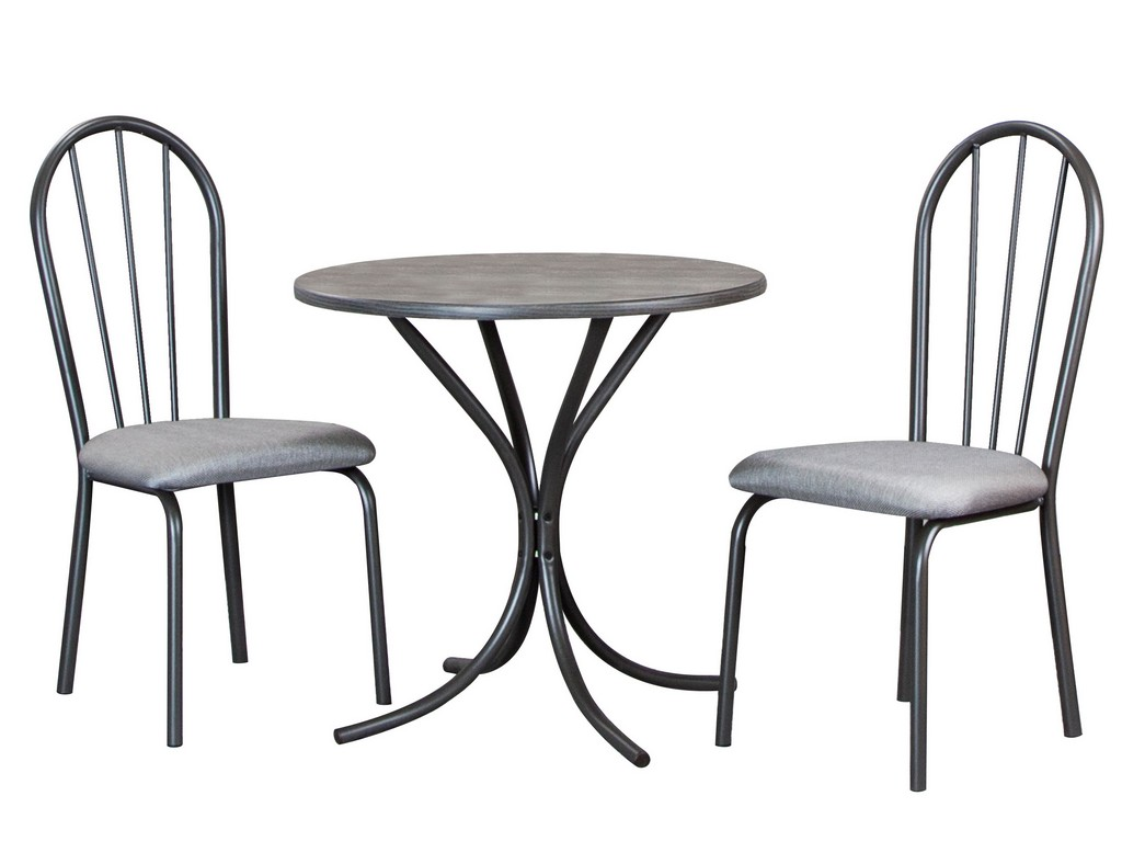 Sunset Trading 3 Piece Steel Gray Dining Set - Sunset Trading CR-D8719-59-3PC